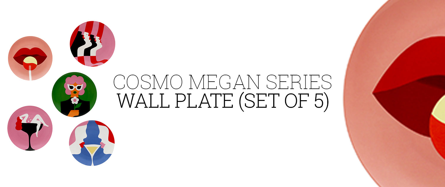 Cosmo Megan Series Wall Plate (Set of 5)