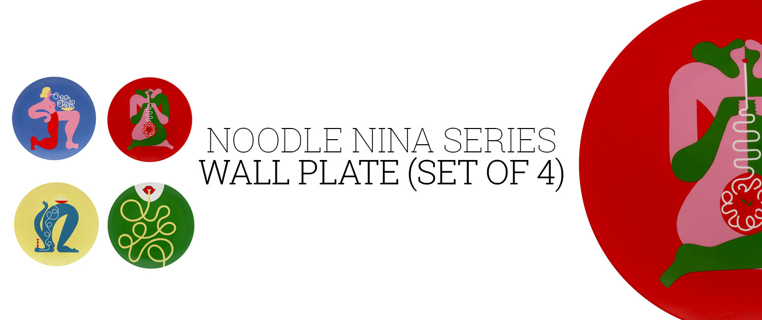 Noodle Nina Series Wall Plate (Set of 4)