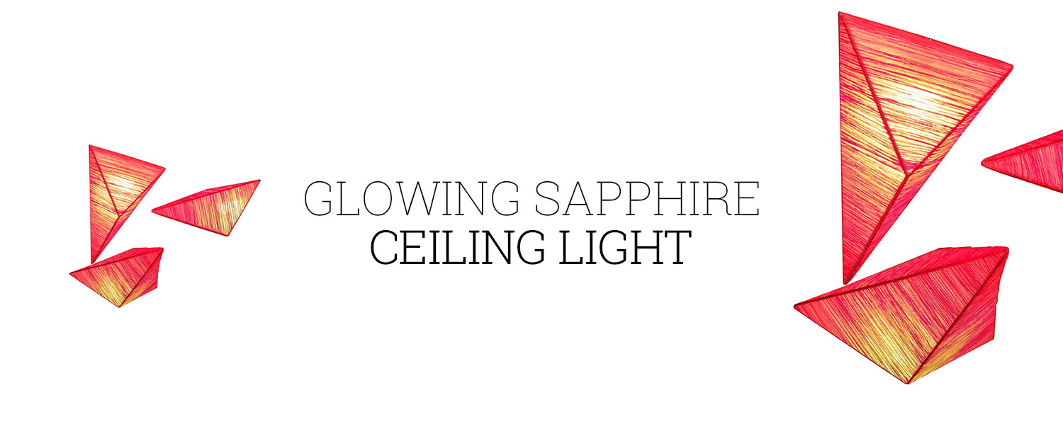 Glowing Sapphire Ceiling Light