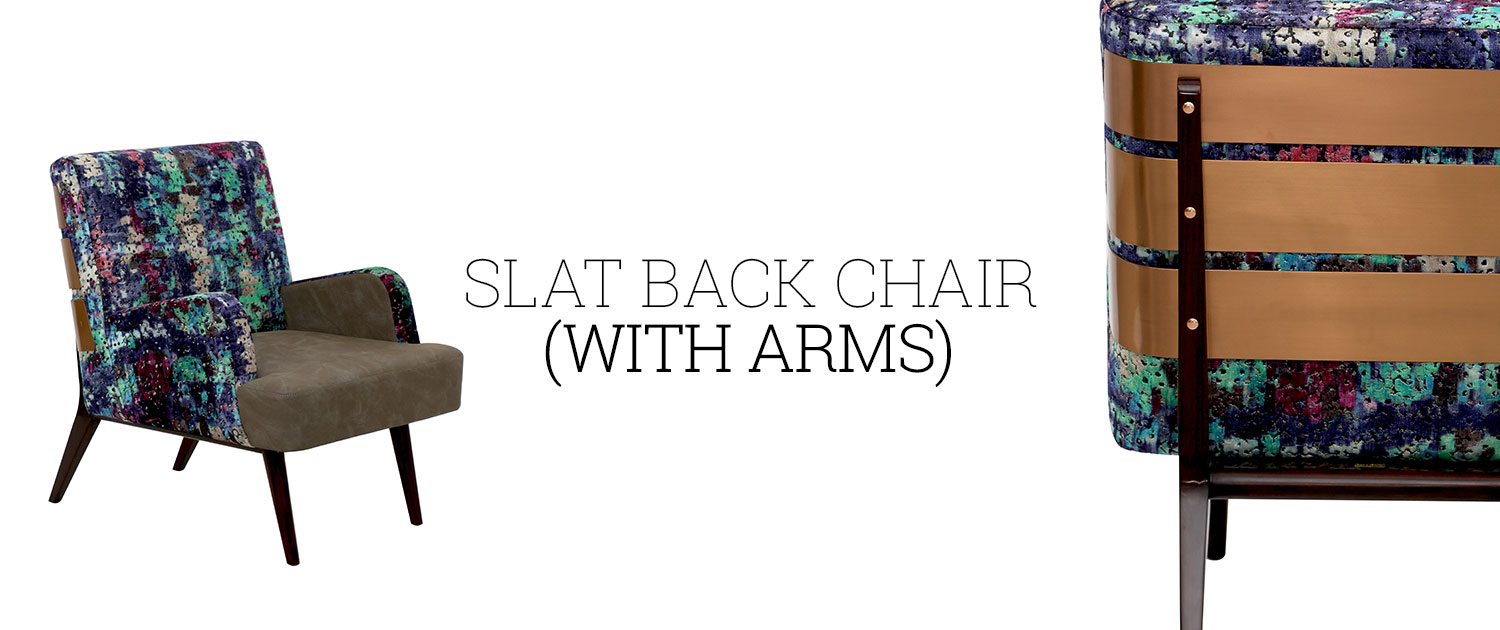 Slat Back Chair (With Arms)