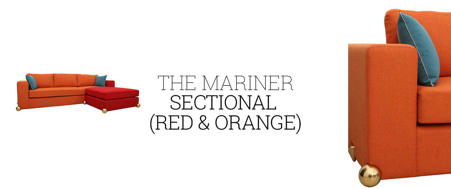 The Mariner Sectional (Red & Orange)