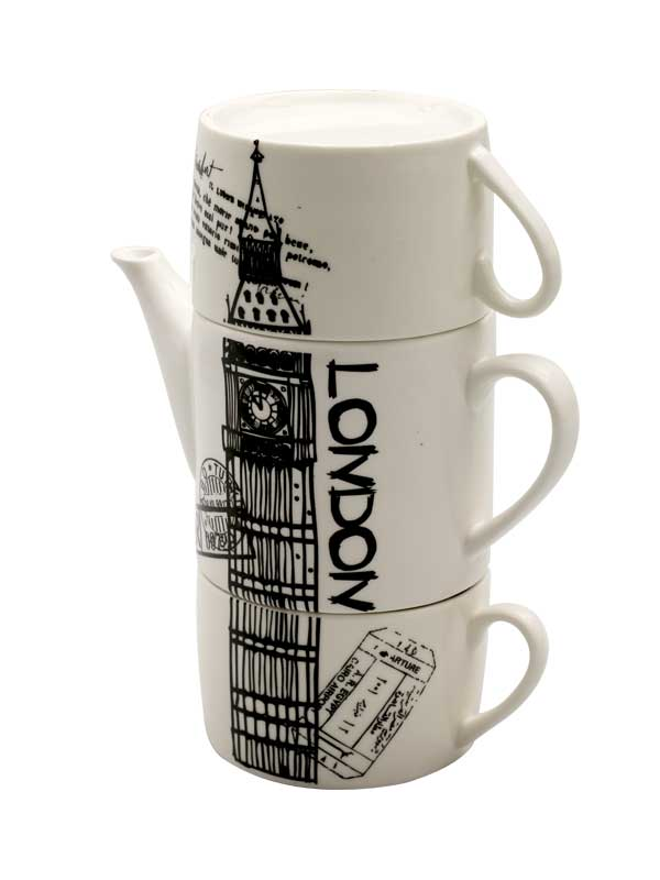 Big Ben Teapot and Mug's Set