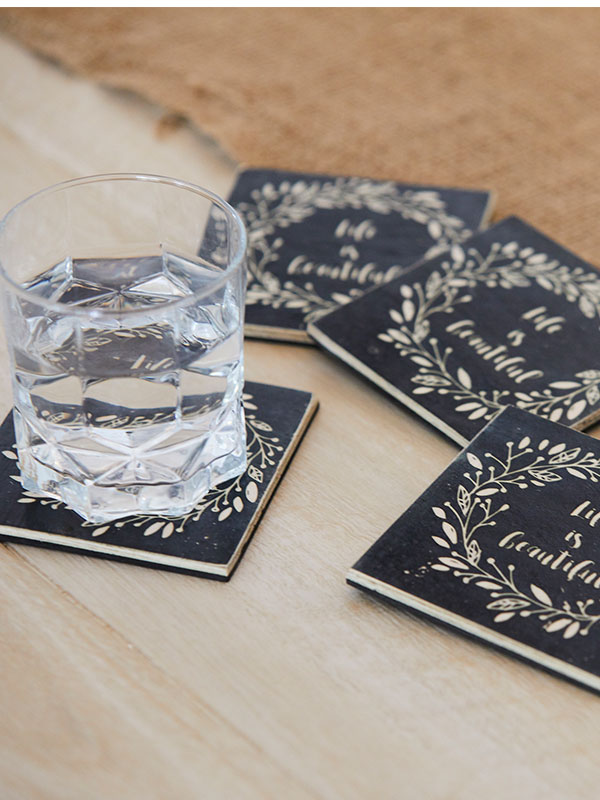 Life is Beautiful Coasters (Set of 4)