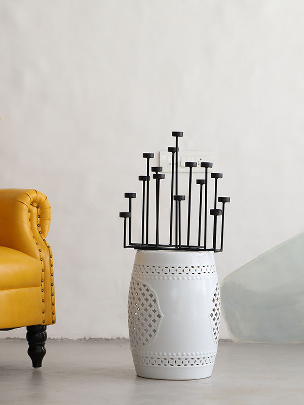 Black Heights Candle Holder