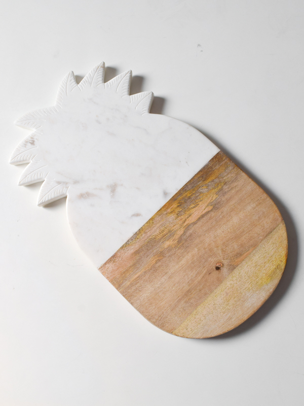 Oliver Pineapple Marble and Wood Platter