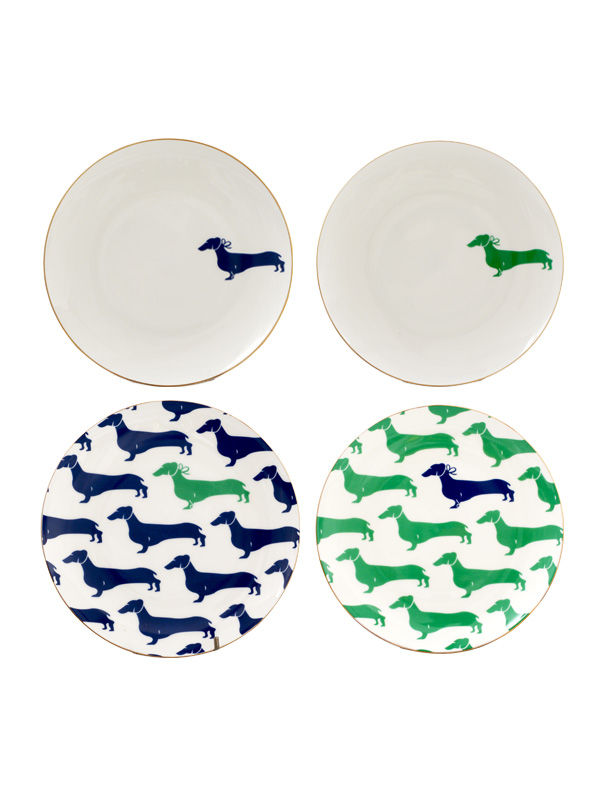 Dachshund Wall Plate (Set of 4)