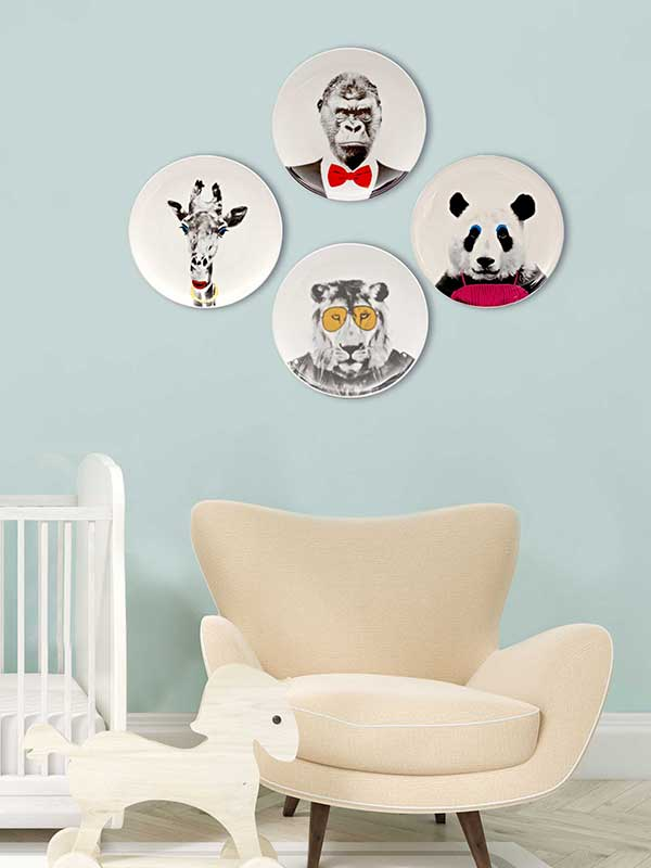 Vogue Wall Plate (Set of 4)