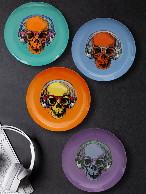 Skull Face Plate (Big) (Set of 4)