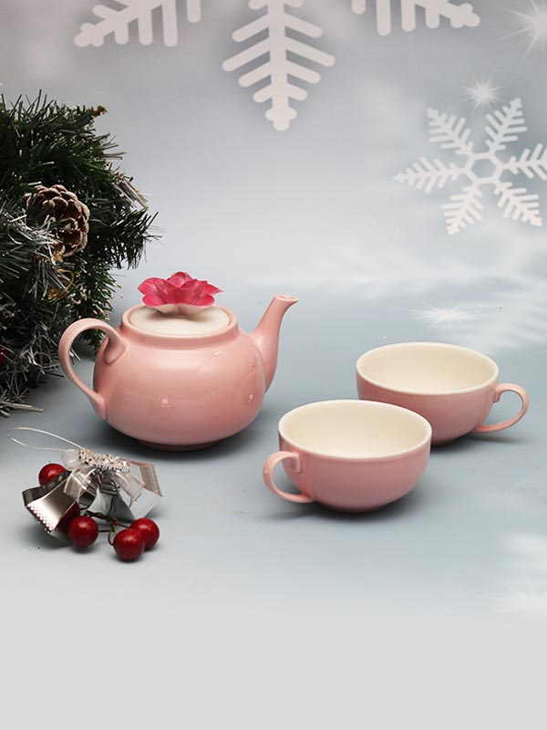 FLORAL DAINTY TEAPOT AND CUP SET