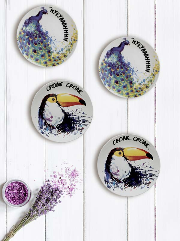 Birds Plate (Small) (Set of 4)