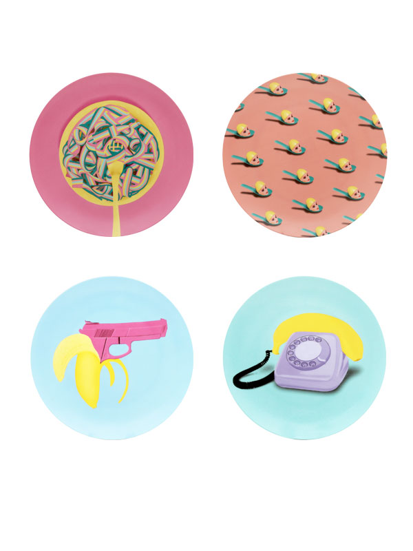 Pop Attack Series Wall Plate (set Of 4)