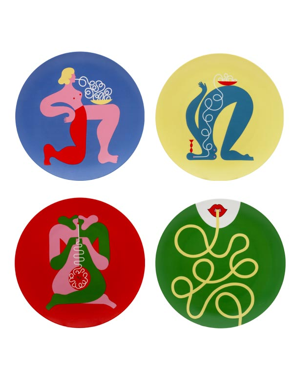 Noodle Nina Series Plate (Set of 4)