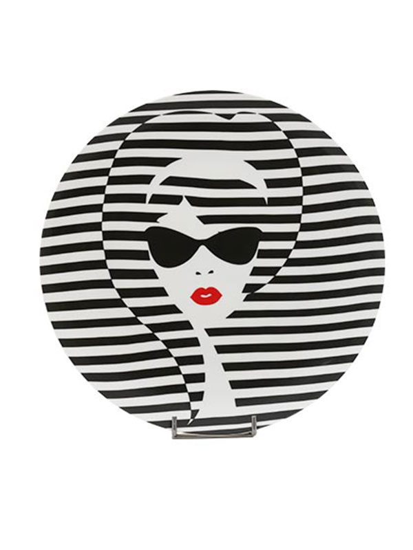 Monochrome Audrey Series Plate (Set of 5)