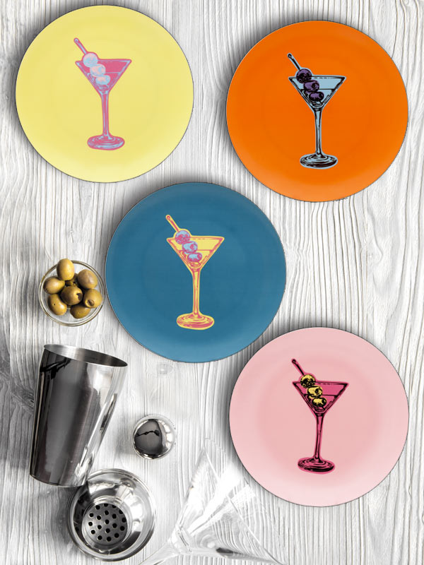 MARTINI POP SERIES PLATE (SET OF 4)