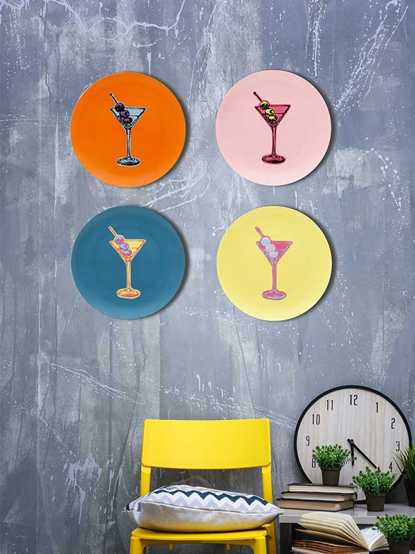 Martini Pop Series Wall Plate (Set of 4)