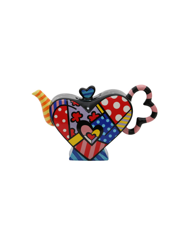 Multicoloured Heart-Shaped Teapot