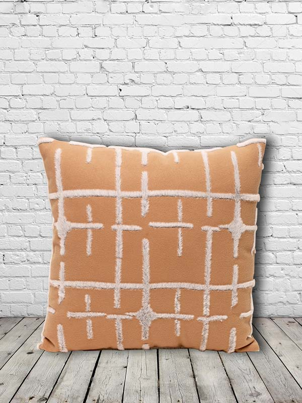 Grid Cushion (Beige) (Set of 2)
