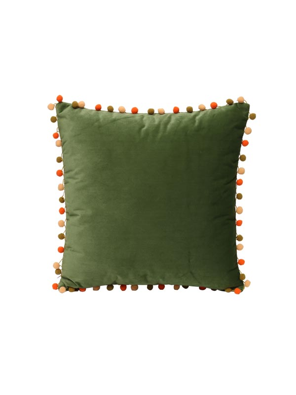 Pom Pom Cushion (Green) (Set of 2)