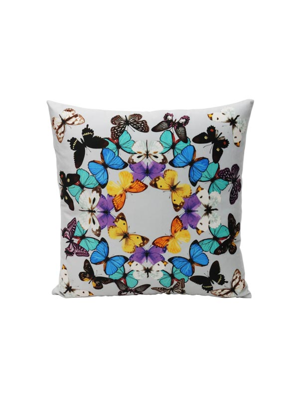 Multicolored Butterfly Cushion (Set of 2)