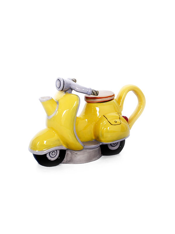 Multi-Color Scooter Teapot
