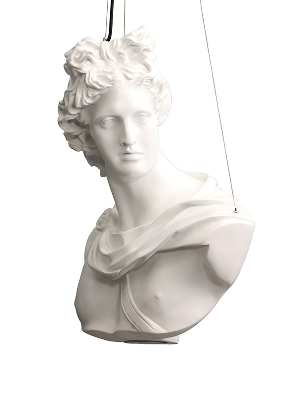 Greek God Ceiling Light