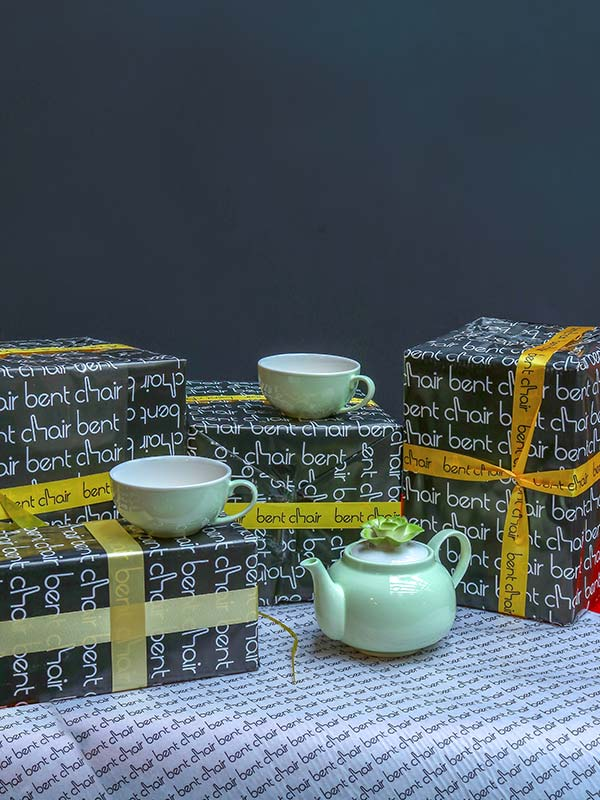 BLOSSOM GREEN TEAPOT AND CUP SET (GIFT)