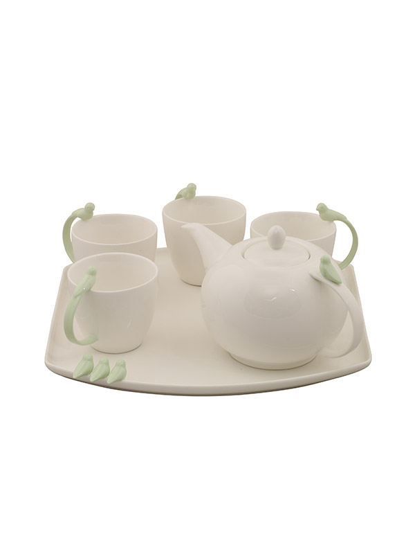 Pastel Sparrow Tea Set