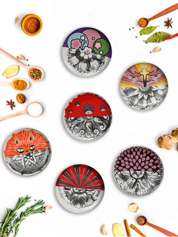 Peppy Art Dining Plate (Set of 6)