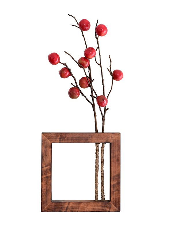 Red Berry Wall Planter