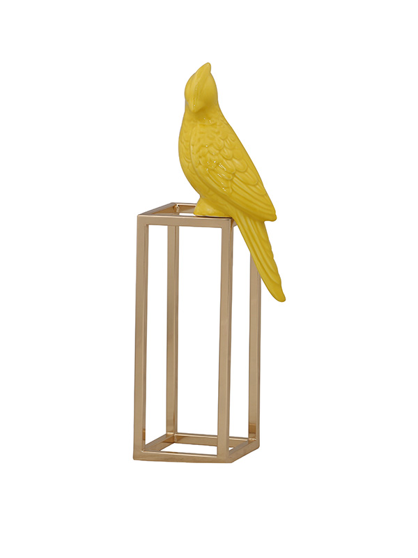 Perching Parrot sculpture