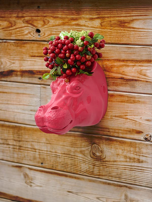 Hippo Head Planter
