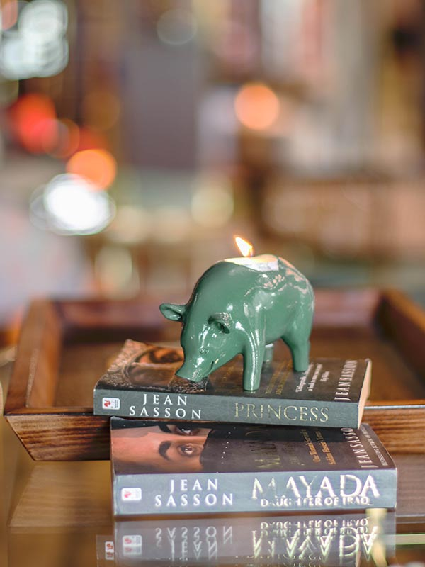 HOG TEA LIGHT HOLDER