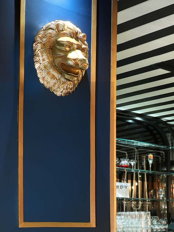 Lion Face Wall Sculpture