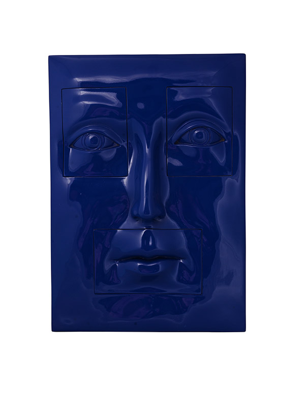 Face Tile Wall Sculpture