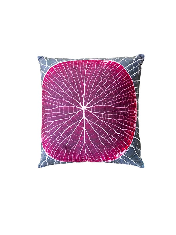 Pink Lotus Leaf Cushion