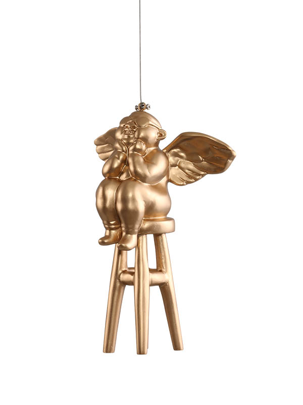 Winged Cupid Hanging Angels (Set of 2)