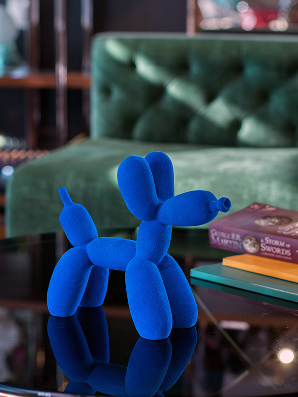 Blue Twisted Balloon Sculpture