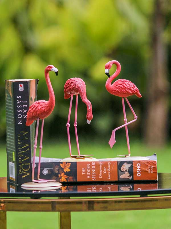 Greater Flamingo Sculpture (Set Of 3)
