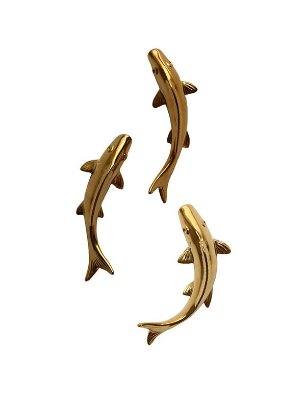 Coastal Fish Sculpture (Set of 3)