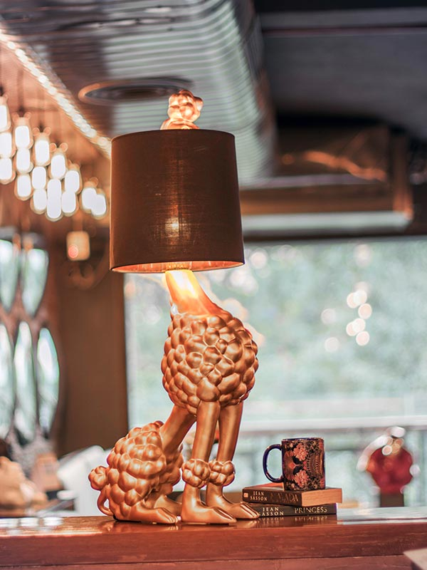 Golden Poodle Table Lamp