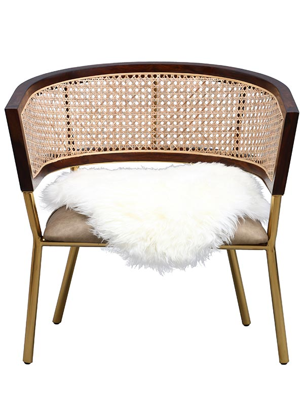 Portia Weave Chair (with Fur)