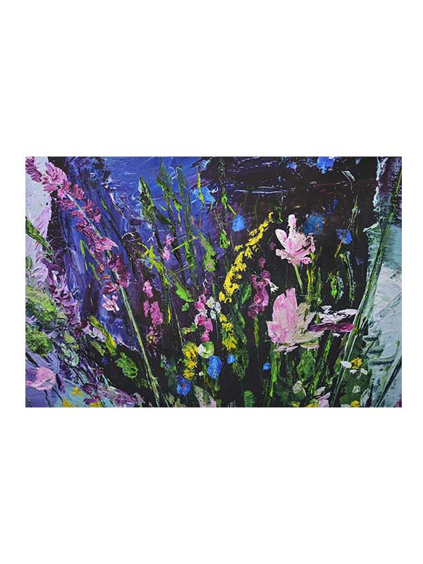 Lavender On Canvas