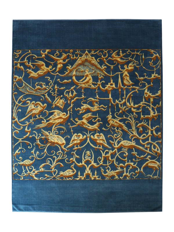 Baroque Turkish Knotted Rug 1