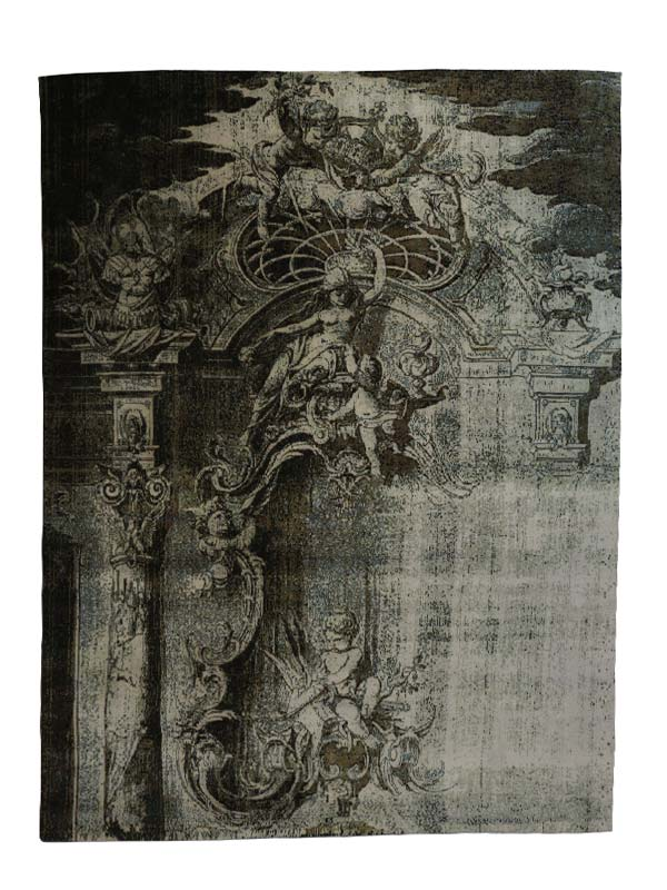Overshadow Persian Knotted  Rug