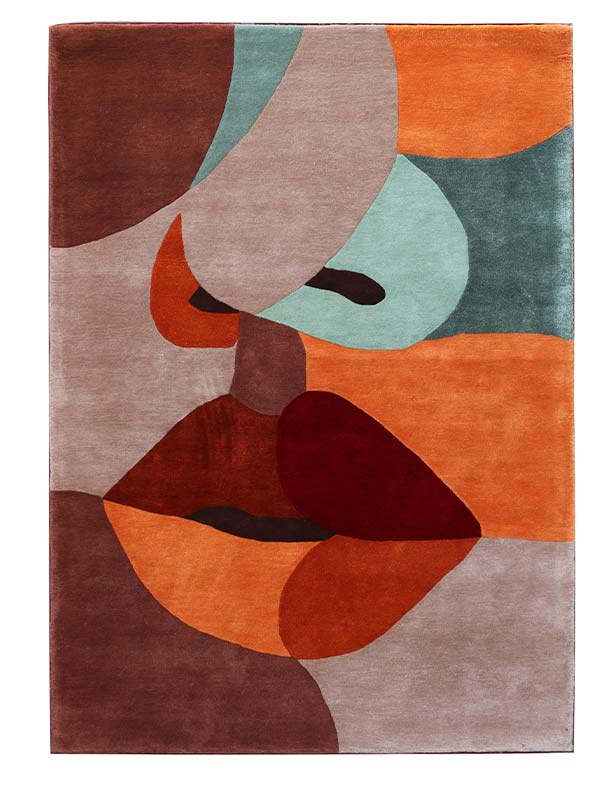 Colorblock Tufted Rug