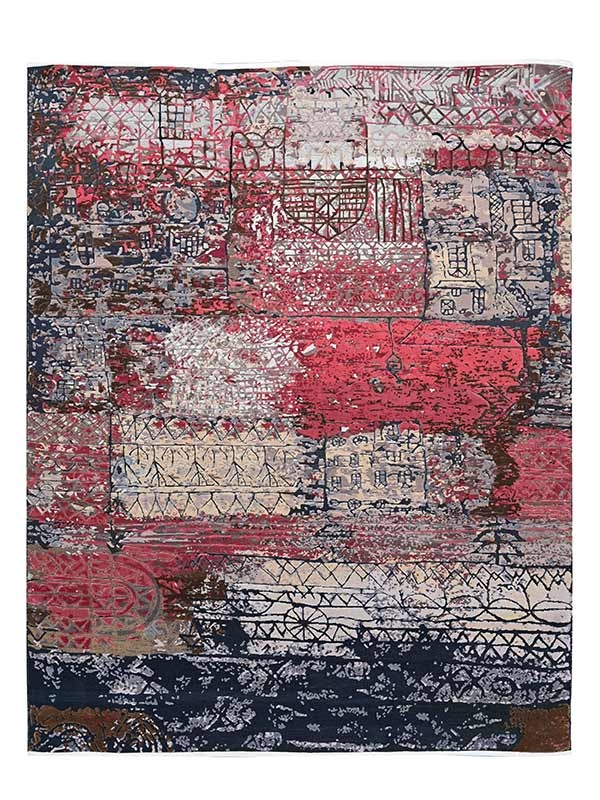 Muzzy Persian Knotted Rug
