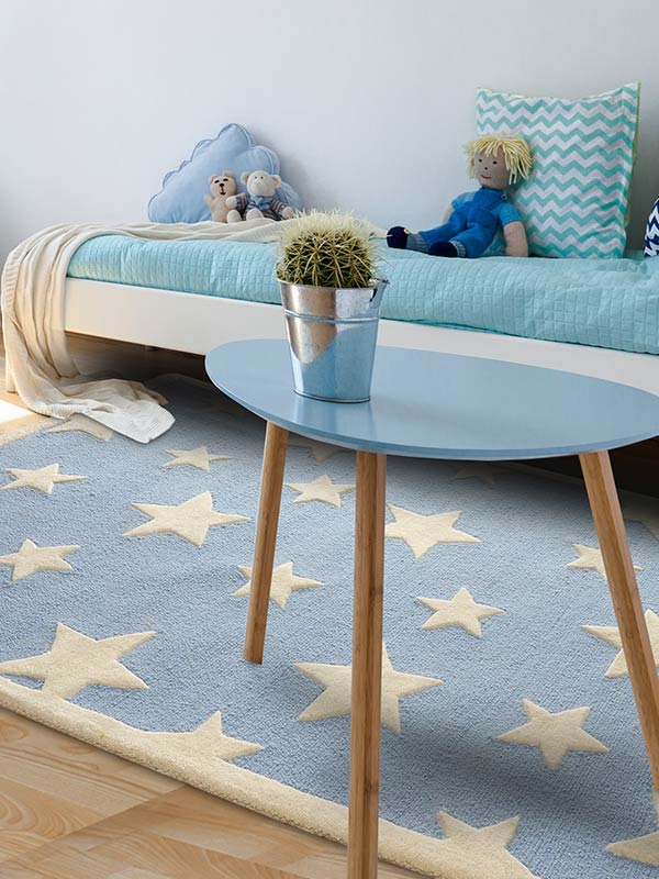Blue Twinkling Star Rug