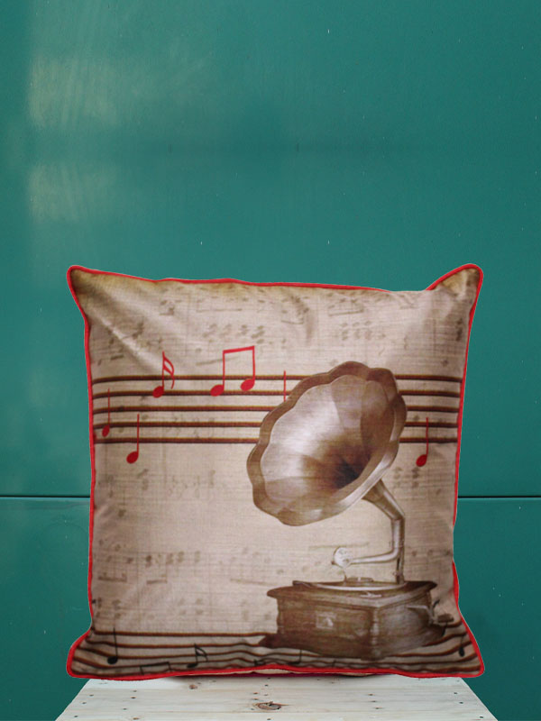 Gramophone Cushion Cover