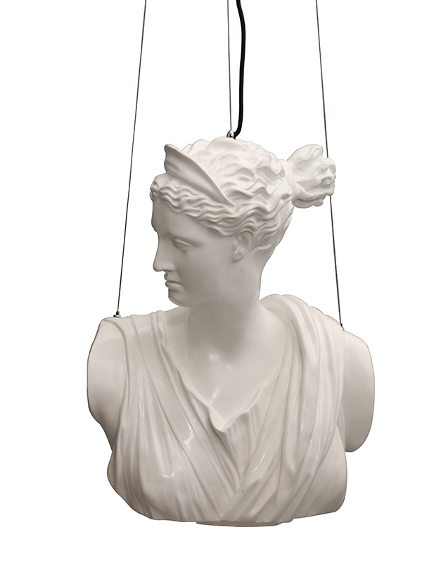 Greek Goddess Ceiling Light