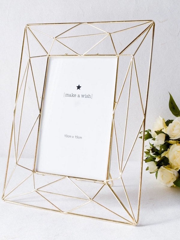 Buy Angular Golden Photo Frame (4×6) Online at Best Prices in India